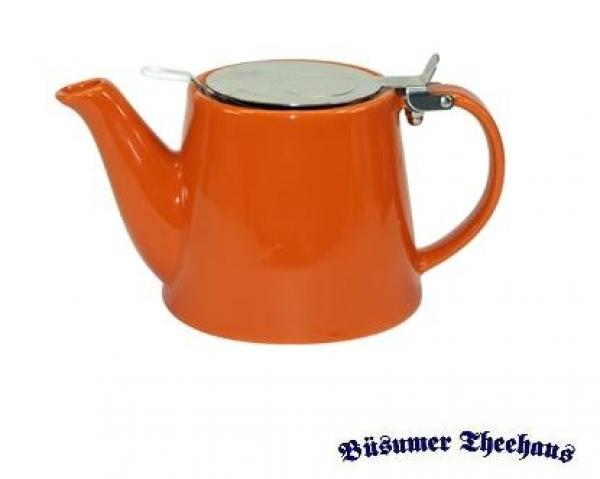 keramik teekanne mit sieb orange b sumer theehaus. Black Bedroom Furniture Sets. Home Design Ideas