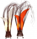 Lampe Bunga in orange und cream