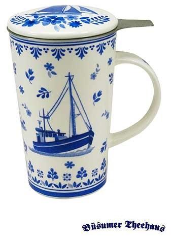 Teetasse Mit Sieb teetasse mit sieb friesisch blau büsumer theehaus